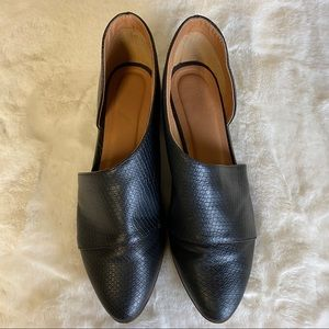 Qupid Faux Snake skin Flat Royale Shoes Size 9